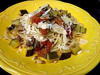 Recette Assiette se spaghettis aux courgettes