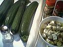 Ingrédients pour la recette : Tarte à la courgette et à la feta