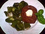 Recette Steak haché au concombre et poivrons