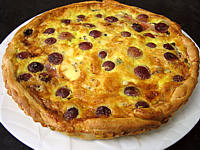 Cuisine diététique : Assiette de tarte au jambon à la fourme d'Ambert
