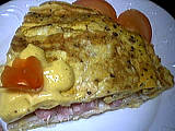 Recette Omelette farcie au crabe