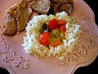 Recette Assiette de riz au poivron