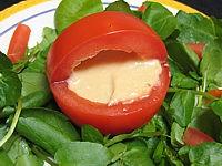 Image : recette Tomates farcies et sauce aux haricots secs