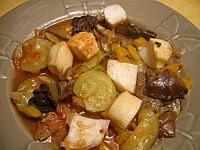 Recette Seiches aux champignons et poivrons