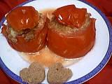 tomates farcies : Assiette de tomates farcies