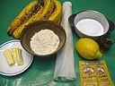 Ingrédients pour la recette : Tarte aux bananes