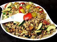 Recette Salade végétarienne aux crozets et aux mirabelles