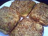 Cuisine diététique : Assiette de tartines aux courgettes