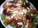 Recette Assiette de salade tiède de rognon