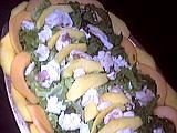 entrée à base de poisson : Plat de salade de lotte à la mangue