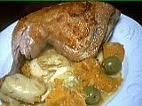 Image : Assiette de sauté de potiron et artichauts
