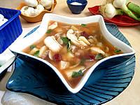 Recette Soupe de morue aux champignons