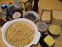 Ingrédients pour la recette : Restes de pain brioché aux morilles