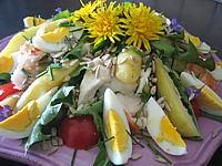 Image : Plat de salade de langoustes aux pommes de terre