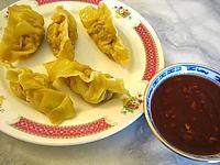 purée de tomate : Assiette de raviolis chinois