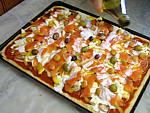 Plat à pizza rectangulaire