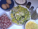 Ingrédients pour la recette : Quiche aux poireaux