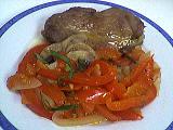 Image : recette Escalopes de dinde aux poivrons