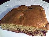 Image : Part de gâteau aux prunes