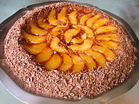 Gâteau aux poires et sa crème au Grand Marnier