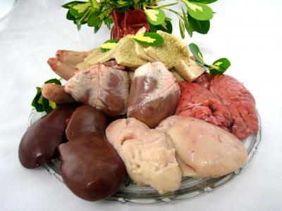 Photo : Les abats de ris de veau, foie, queue