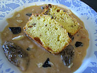 Cake au foie gras et truffes