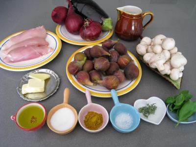 Ingrédients pour la recette : Curry de blancs de poulet
