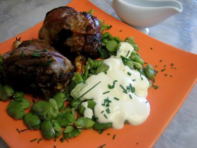 Recette Souris d'agneau aux fèves et au parmesan