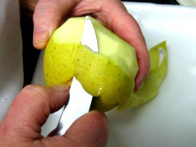Chapon aux pommes et légumes avec sauce au champagne et armagnac - 1.1