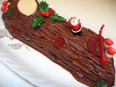 Image : recette Bûche de Noël au chocolat