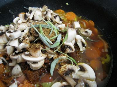 Feuilletés de ris de veau et champignons - 17.1