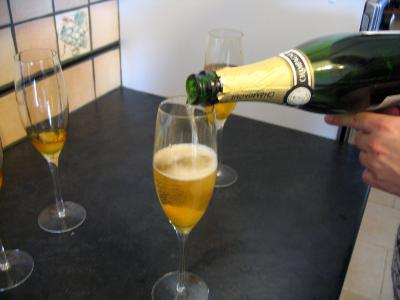 Allonger le cocktail au champagne