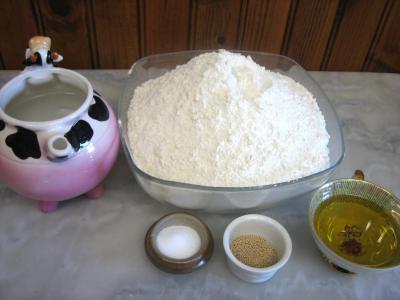 Ingrédients pour la recette : Pâte à pizza