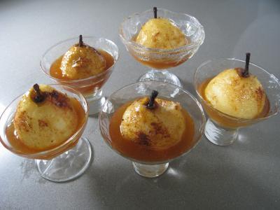 Poires au cidre et sa crème fouettée - 7.4