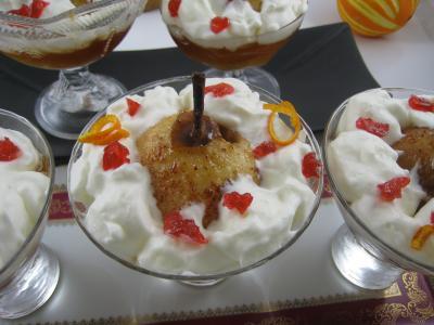 Recette Poires au cidre et sa crème fouettée