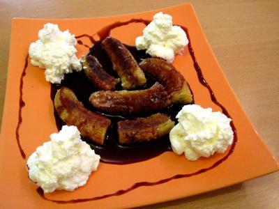 Bananes au vin rouge et chantilly - 10.1
