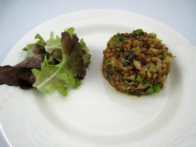 Foie gras aux lentilles et au vinaigre balsamique - 12.2