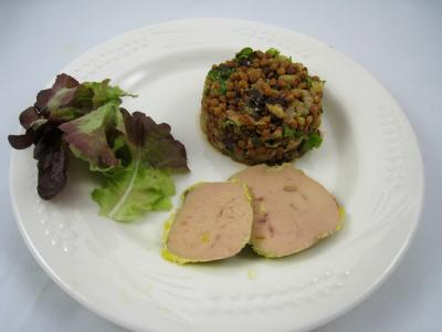 Foie gras aux lentilles et au vinaigre balsamique - 13.1