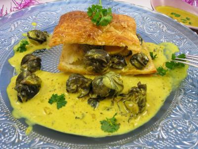 curcuma : Feuilleté d'escargots aux épices