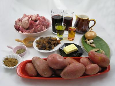 Ingrédients pour la recette : Civet de sanglier façon Corse