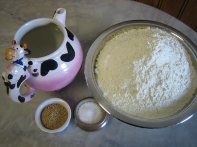 Ingrédients pour la recette : Fougasse