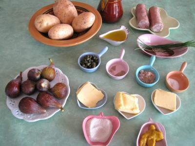 Ingrédients pour la recette : Andouillettes aux figues