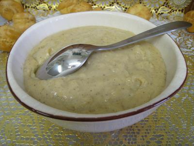 crème pâtissière : Bol de crème pâtissière