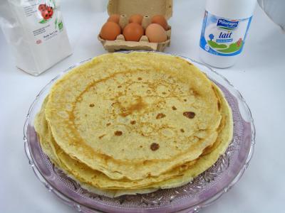 beurre allégé salé : Assiette de crêpes