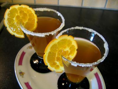 Recette Verres de cocktail au gingembre au parfum de chine