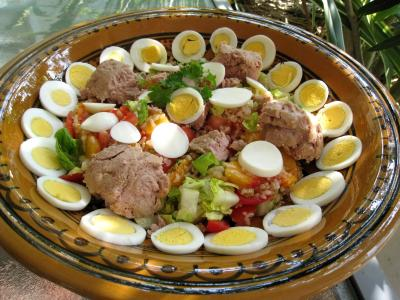 Salade de thon aux pêches - 7.4