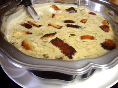 Recette Soupe à l'oignon et aillette à la crème