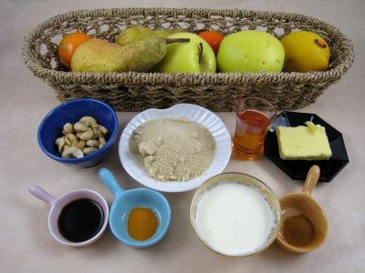 Ingrédients pour la recette : Pommes et poires caramélisées
