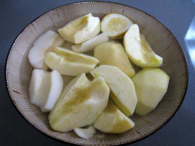 Pommes et poires caramélisées - 2.4