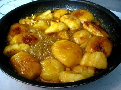 Pommes et poires caramélisées - 7.2